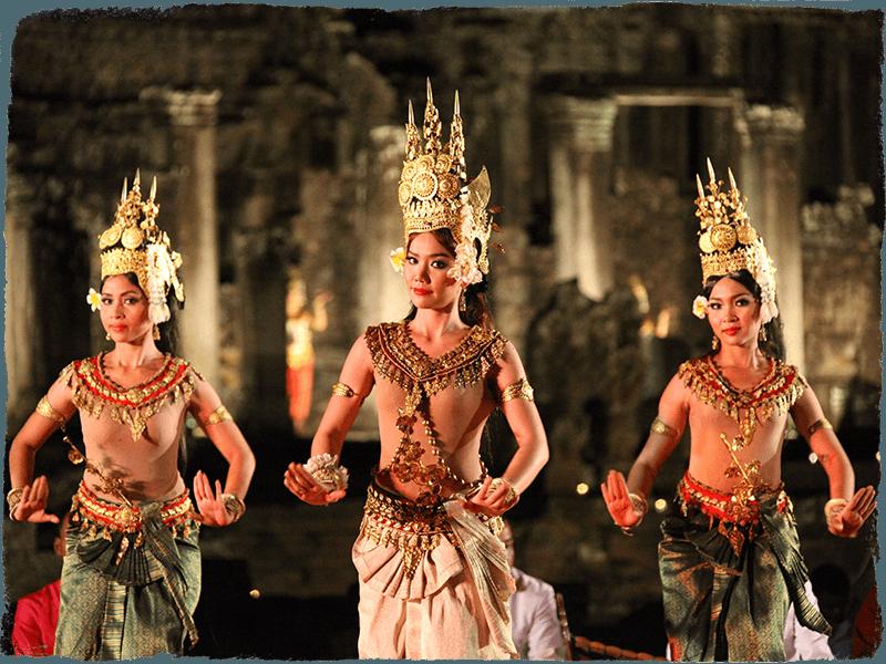 apsara dansı kamboçya