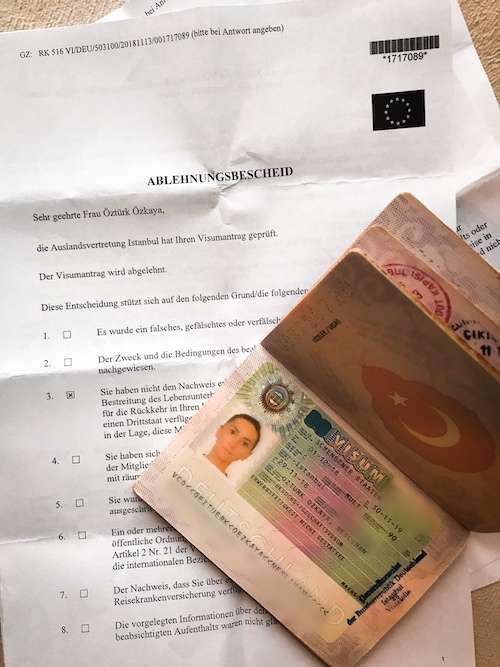 schengen vizesi red dilekçesi