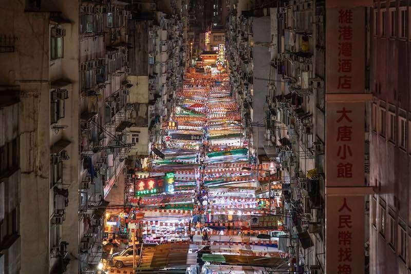 hong kong gece pazarı