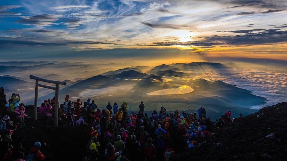 Fuji Dağı Gündoğumu