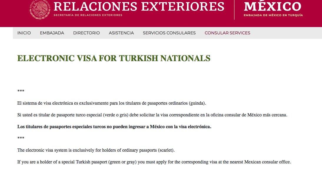 Meksika vize başvuru